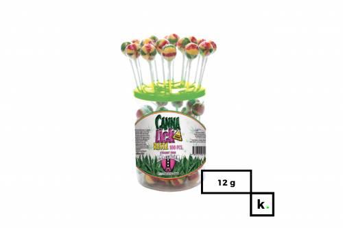 CannaShock Cannalick Rasta lizak o smaku konopi – 12g