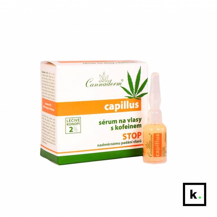 Cannaderm Capillus serum z konopi do włosów z kofeiną 8 x 5 ml - 40 ml
