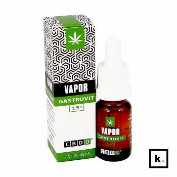 CBDex Vapor Gastrovit 1,5% płyn do inhalacji z CBD - 10 ml