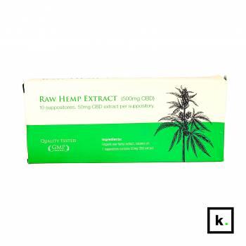 Endoca czopki z CBD 500 mg - 10 sztuk
