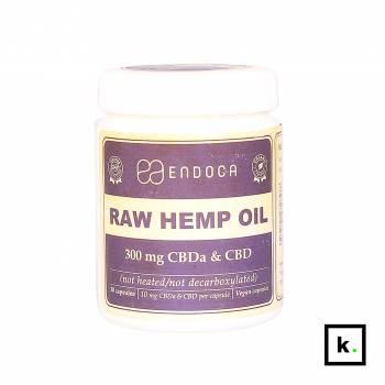 Endoca kapsułki CBD/CBDa 300 mg RAW - 30 sztuk