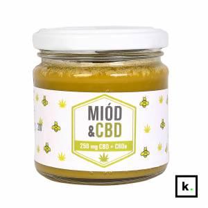GoodFoods miód z CBD/CBDA 250 mg (0,1%) - 240 g