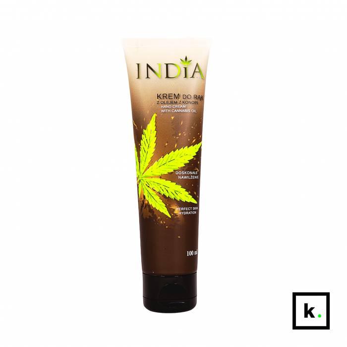 India Cosmetics krem do rąk z olejem z konopi - 100 ml