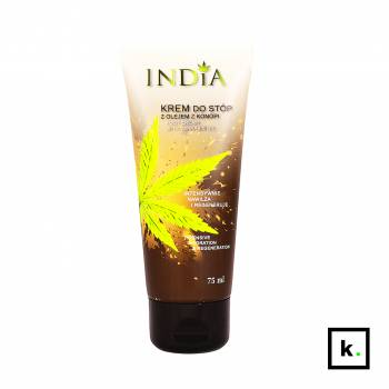 India Cosmetics krem do stóp z olejem z konopi - 75 ml