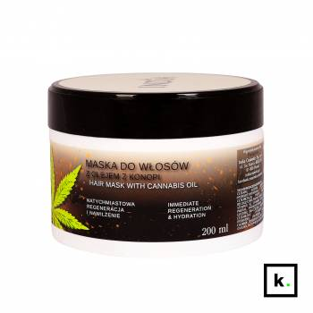 India Cosmetics maska do włosów z olejem z konopi - 200 ml