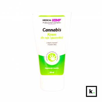 Medical Hemp Cannabis krem do rąk i paznokci z konopi - 50 ml