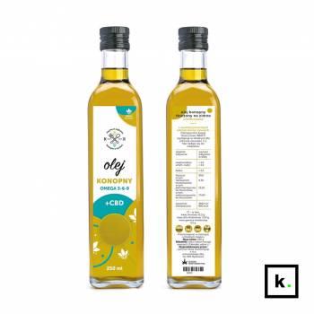 Dobre Konopie olej konopny z CBD - 250 ml