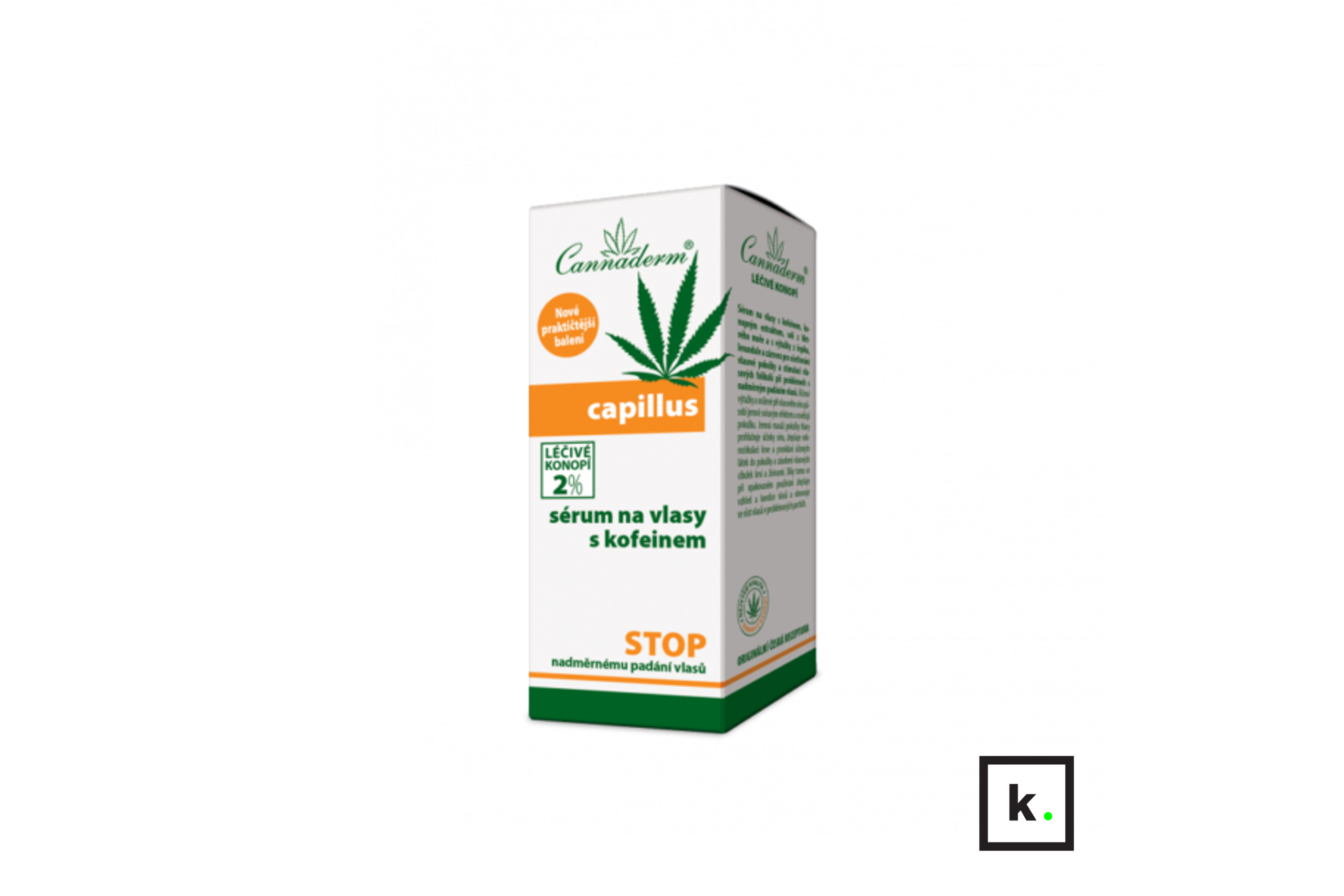 Cannaderm Capillus serum z konopi do włosów z kofeiną - 40 ml