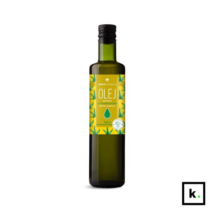 Dobre Konopie olej z łuskanych nasion konopi - 250 ml