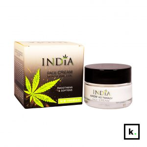 India Cosmetics krem do twarzy z olejem z konopi - 50 ml