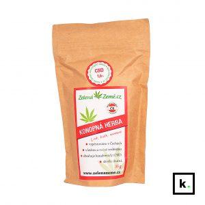 Zelená Země konopna herbata z CBD - 35 g